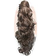 billige -hestehale kvinner lang bølgete gull blonde fest naturlig skjønnhet hårstykke klo klipp på håret forlengelse