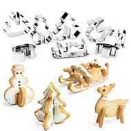 billige Bakeredskap-Bakeware verktøy Rustfritt Stål + A-klasse ABS / rustfritt Barn / Non-Stick / baking Tool Kake / Til Småkake / for Frukt Cake Moulds 8pcs