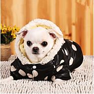 Pas Hoodies Odjeća za psa Toplo Ležerno/za svaki dan Na točkice Pink Kostim Za kućne ljubimce