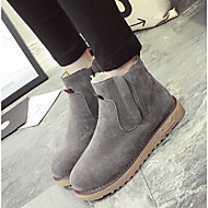 Women's Shoes Nubuck leather Winter Fall Snow Boots Fashion Boots Boots Chunky Heel Booties/Ankle Boots for Casual Black Gray Brown