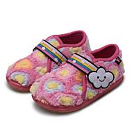 tanie Obuwie dziewczęce-Dla dziewczynek Buty Polar Zima Comfort Mokasyny i pantofle Na Casual Różowy Light Blue