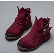 女の子 靴 スエード 秋 冬 スノーブーツ ブーツ 用途 カジュアル ブラック キャメル バーガンディー