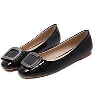 preiswerte -Damen Schuhe PU Frühling Herbst Komfort Flache Schuhe Für Normal Schwarz Rot Leicht Rosa