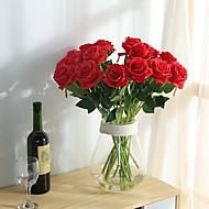 billige Kunstige blomster-2 Gren Polyester Roser Bordblomst Kunstige blomster