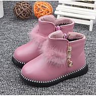 女の子 靴 レザーレット 秋 冬 コンフォートシューズ ブーツ 用途 カジュアル ブラック レッド ピンク