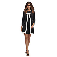 Women's Daily Going out Loose A Line Dress - Striped Spring Cotton Black M L XL