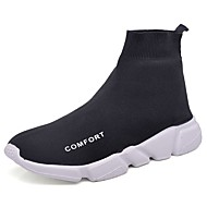 Men's Shoes Fabric Spring Fall Comfort Sneakers For Casual White Black Dark Grey Light Grey