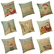 tanie Zestawy poduszki-9 szt Bielizna Poszewka na poduszkę Pokrywa Pillow, Textured Tropikalny Styl plażowy Tradycyjny / Classic Modern / Contemporary