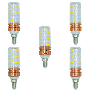 billige Kornpærer med LED-BRELONG® 5pcs 16W 1300 lm E14 LED-kornpærer T 84 leds SMD 2835 Varm hvit Hvit Dual Light Source Color AC 220-240V
