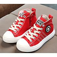 Недорогие -Мальчики обувь Синтетическая кожа Осень Зима Удобная обувь Кеды Назначение Повседневные Белый Черный Красный