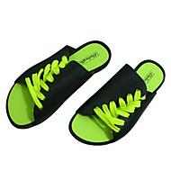 tanie Small Size Shoes-Męskie Lekkie podeszwy Skóra PVC Wiosna / Lato Sandały Biały / Czarny / Zielony