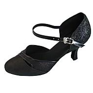 tanie -Damskie Taniec nowoczesny Brokat Sandały Wewnątrz Obcas do wyboru Black