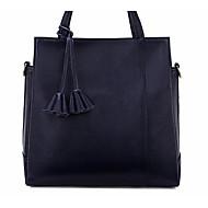 baratos Bolsas de Ombro-Mulheres Bolsas Pele Bolsa de Ombro Ziper Preto / Vermelho / Azul Escuro