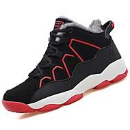 tanie Obuwie chłopięce-Dla chłopców Buty PU Zima Comfort Buty płaskie Bieganie Szurowane Na Atletyczny Casual Black/White Black/Red