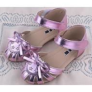 tanie Obuwie dziewczęce-Dla dziewczynek Obuwie PU Wiosna / Jesień Wygoda Sandały na Złoty / Fioletowy / Różowy