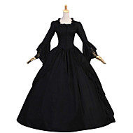 Tek-parça/Elbiseler Gotik Lolita Lolita Cosplay Lolita Elbiseler Siyah Eski Tip Kaplı Kol Uzun Kollu Yer-uzunluğunda Elbise İçin Diğer