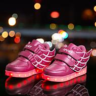 女の子 靴 化繊 冬 秋 コンフォートシューズ ライトアップシューズ スニーカー アニマルプリント LED かぎホック 用途 カジュアル ゴールド ブルー ピンク