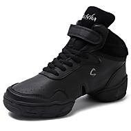 baratos Sapatilhas de Dança-Masculino Tênis de Dança Pele Real Meia Solas Diário Salto Personalizado Preto Personalizável