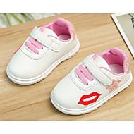 Bebê sapatos Couro Ecológico Outono Inverno Conforto Primeiros Passos Tênis Para Casual Verde Rosa claro
