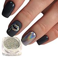 1pc Pudder / Glitter Powder / Nail Glitter Glitrende / Laser Holografisk Nail Art Design