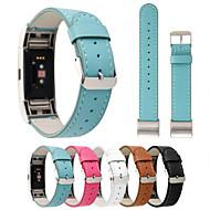 billiga Smart klocka Tillbehör-Klockarmband för Fitbit Charge 2 Fitbit Klassiskt spänne Äkta Läder Handledsrem