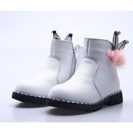 Meisjes Schoenen Leer Winter Modieuze laarzen Laarzen Korte laarsjes/Enkellaarsjes Voor Causaal Wit Perzik Rood