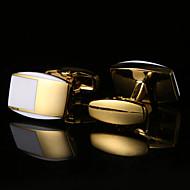 tanie Akcesoria dla mężczyzn-Geometric Shape White Manžetové knoflíčky Wzór Męskie Biżuteria kostiumowa