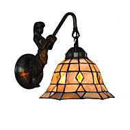 billige Vegglamper-diameter 20cm retro havfrue tiffany vegg lys skall skall skygge stue soverom lysarmatur