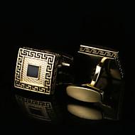 Geometrisk form Gylden Manchetter Mønster Herre Kostume smykker