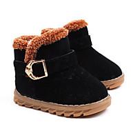 男の子 靴 ヌバックレザー 秋 冬 コンフォートシューズ スノーブーツ ブーツ 用途 カジュアル ブラック ピーチ Brown