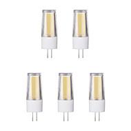 billige Bi-pin lamper med LED-5pcs 3W G4 LED-lamper med G-sokkel 1 leds COB Varm hvit Kjølig hvit 230lm 65600/3500K AC 220-240V