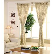 Window Treatment Rustikk , Blomstret Kjøkken Materiale gardiner gardiner Hjem Dekor For Vindu