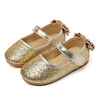 baratos Sapatos de Menina-Para Meninas Sapatos Paetês Primavera / Outono Conforto Rasos para Dourado / Prata / Rosa claro