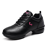 "Women's Dance Sneakers Synthetic Outdoor Splicing Low Heel White Black Red 1"" - 1 3/4"""