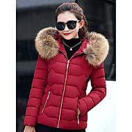 Dámské Dlouhý kabát Na běžné nošení Denní Jdeme ven Jednobarevné-Kabát Polyester Polypropylen Dlouhý rukáv