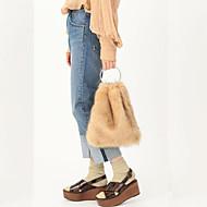 Χαμηλού Κόστους Fur Bags-Γυναικεία Τσάντες Γούνα Τσάντα ώμου Φτερά / Γούνα για Εκδήλωση/Πάρτι Ψώνια Χειμώνας Γαλακτώδες Λευκό Καφέ Ανοικτό Γκρίζο