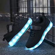 Poikien kengät Neule Kesä Syksy Comfort Valopohjat Välkkyvät kengät Lenkkitossut LED Käyttötarkoitus Kausaliteetti Musta Harmaa Pinkki