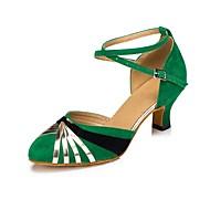 """billige Moderne sko-Dame Moderne Kunstlær Fleece Profesjonell Spenne Kustomisert hæl Rød Grønn 1 """"- 1 3/4"""" 2 """"- 2 3/4"""" 3 """"- 3 3/4"""" 4"""" tommer (10 cm) eller mer"""