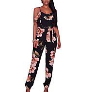 Žene Jumpsuits - Cvijetan, Cvjetni print S naramenicama