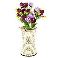 1 trandafir de mătase / trandafiri din plastic flori artificiale cu vază decorațiuni interioare