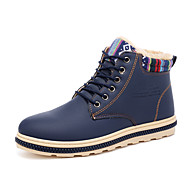Men's Shoes Leatherette Spring Summer Snow Boots Boots Booties/Ankle Boots Lace-up For Casual Outdoor Blue Yellow Black