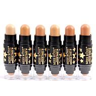 Χαμηλού Κόστους MISS ROSE-6 χρωματιστά Βάση / Κονσίλερ / Contour Ξηρό / Ματ / Mineral Κονσίλερ Γυναικείο / Πρόσωπο Χωρίς Οινόπνευμα