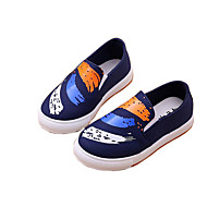 cheap Boys' Shoes-Boys' Shoes Canvas Summer Fall Moccasin Comfort Loafers & Slip-Ons Animal Print for Casual Outdoor Black Blue Pink