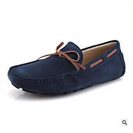 tanie Obuwie męskie-Męskie Komfortowe buty Skórzany Wiosna Mokasyny Ciemnoniebieski