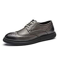 abordables Oxfords pour Homme-Homme Chaussures Formal Cuir Automne / Hiver Oxfords Noir / Gris