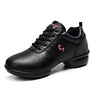 baratos Sapatilhas de Dança-Unisexo Tênis de Dança Courino Têni Recortes Salto Meia Pata Personalizável Sapatos de Dança Preto