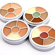 Χαμηλού Κόστους MISS ROSE-6 χρωματιστά Βάση / Κονσίλερ / Contour Ξηρό / Ματ / Mineral Balm Κονσίλερ Γυναικείο / Πρόσωπο Χωρίς Οινόπνευμα