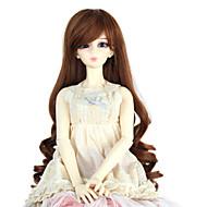 Naisten Synteettiset peruukit Suojuksettomat Pitkä Kihara Medium Auburn Doll Wig Rooliasu peruukki