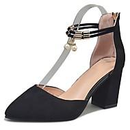 Ženske Cipele PU Proljeće Jesen Udobne cipele Cipele na petu Stiletto potpetica Krakova Toe Za Formalne prilike Crn Sive boje