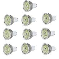 billige -10pcs 5W 550 lm GU10 LED-spotpærer 48 leds SMD 2835 Dekorativ Varm hvit Kjølig hvit AC 85-265V